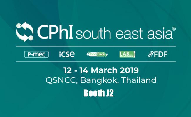 CPhI south east asia.12-14 March 2019 QSNCC,Bangkok,Thailand Booth J2